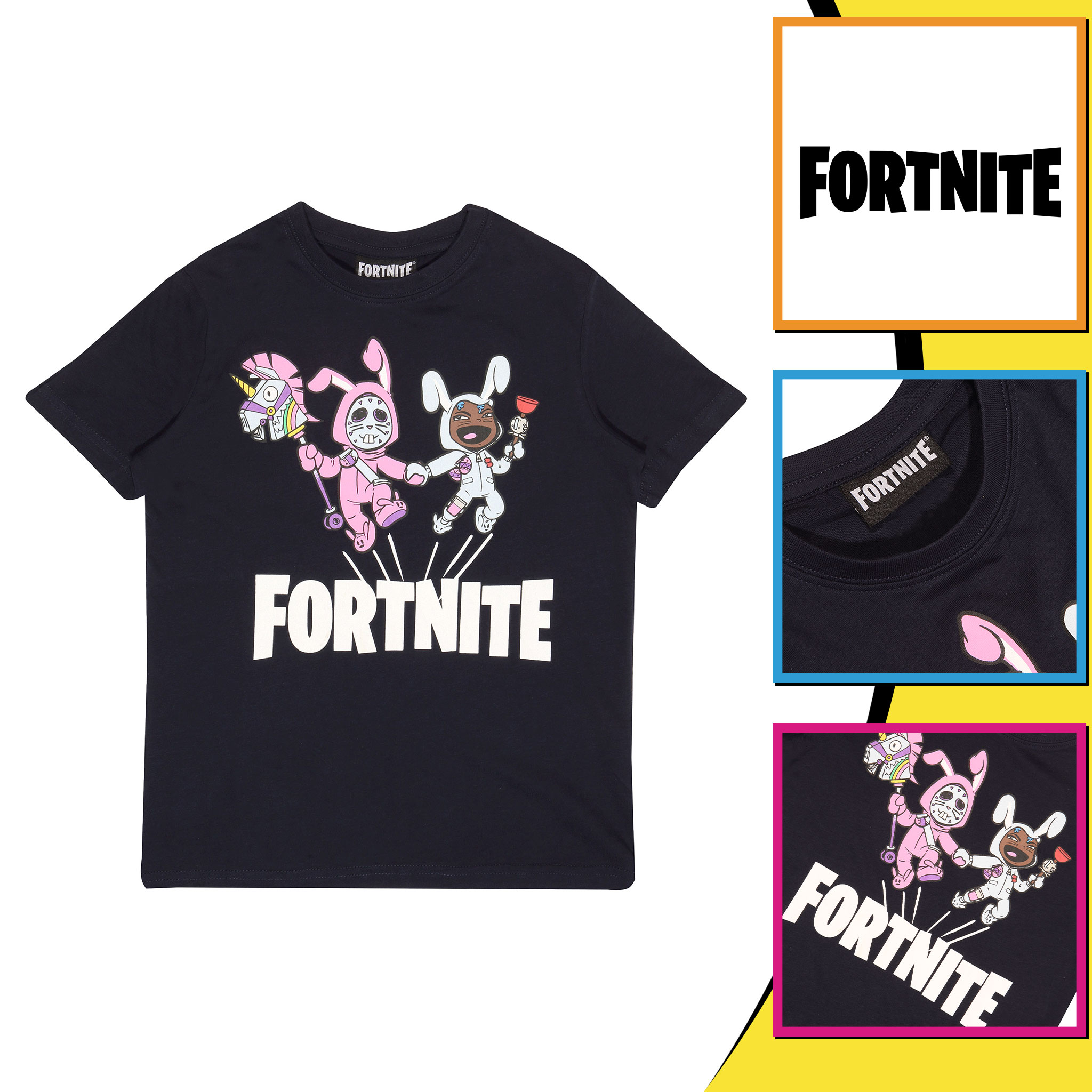 miniature 16 - Boys Fortnite T Shirt Bunny Trouble Official Merchandise