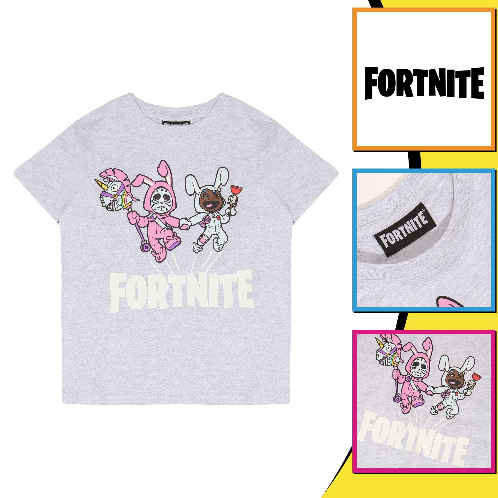 miniature 11 - Boys Fortnite T Shirt Bunny Trouble Official Merchandise