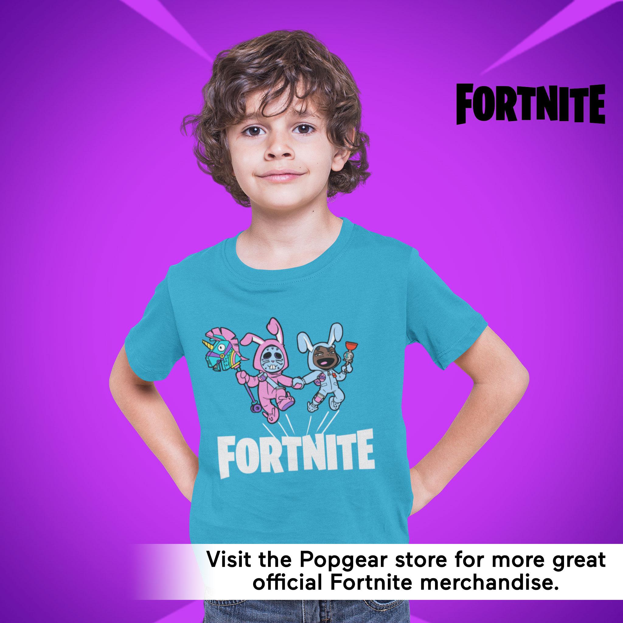 miniature 8 - Boys Fortnite T Shirt Bunny Trouble Official Merchandise