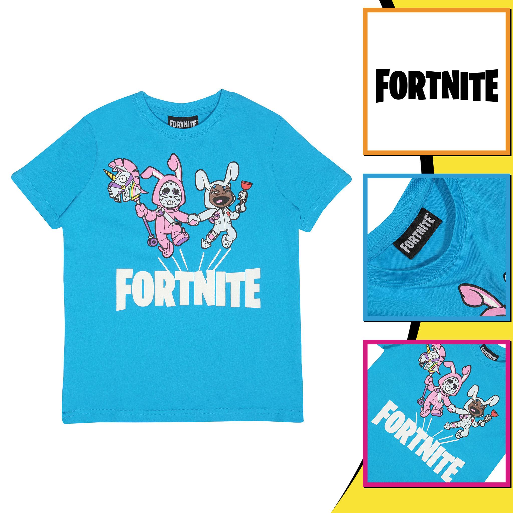 miniature 7 - Boys Fortnite T Shirt Bunny Trouble Official Merchandise