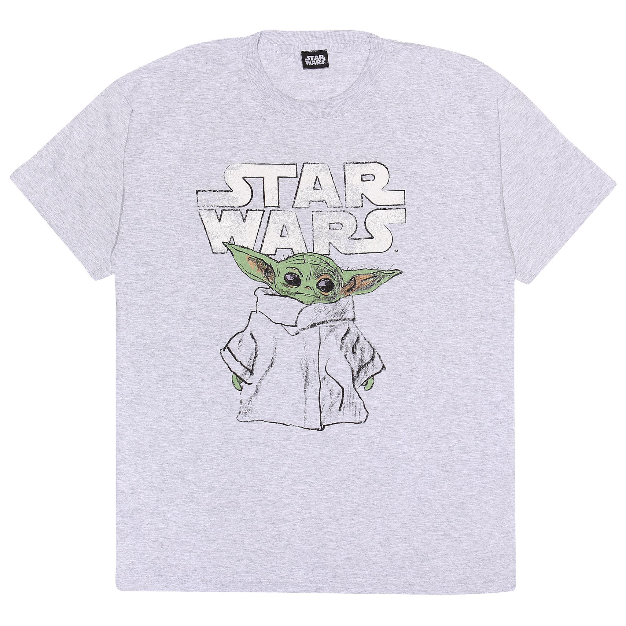 Star Wars Return Of The Jedi Logo T Shirt Mens Licensed Movie Yoda Retro Black