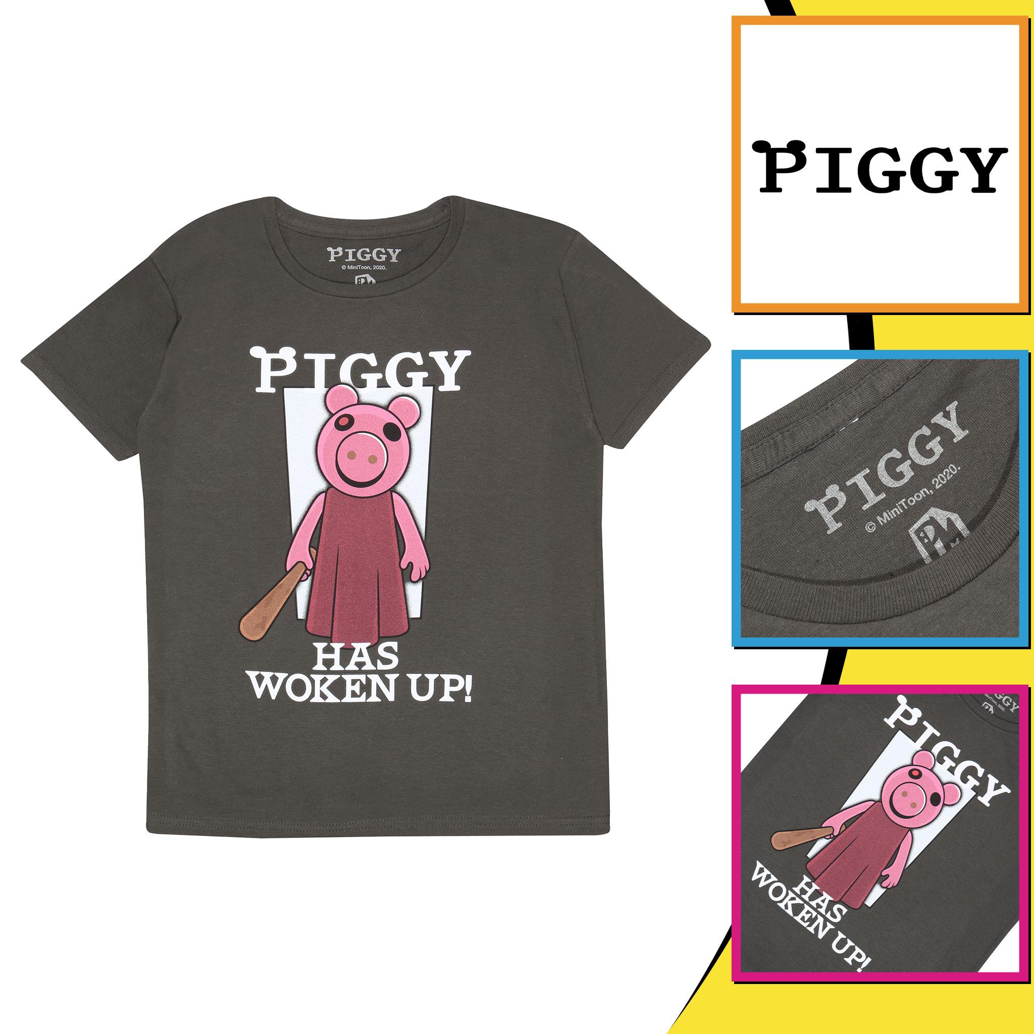 miniature 10 - Boys Piggy T Shirt Has Woken Up Official