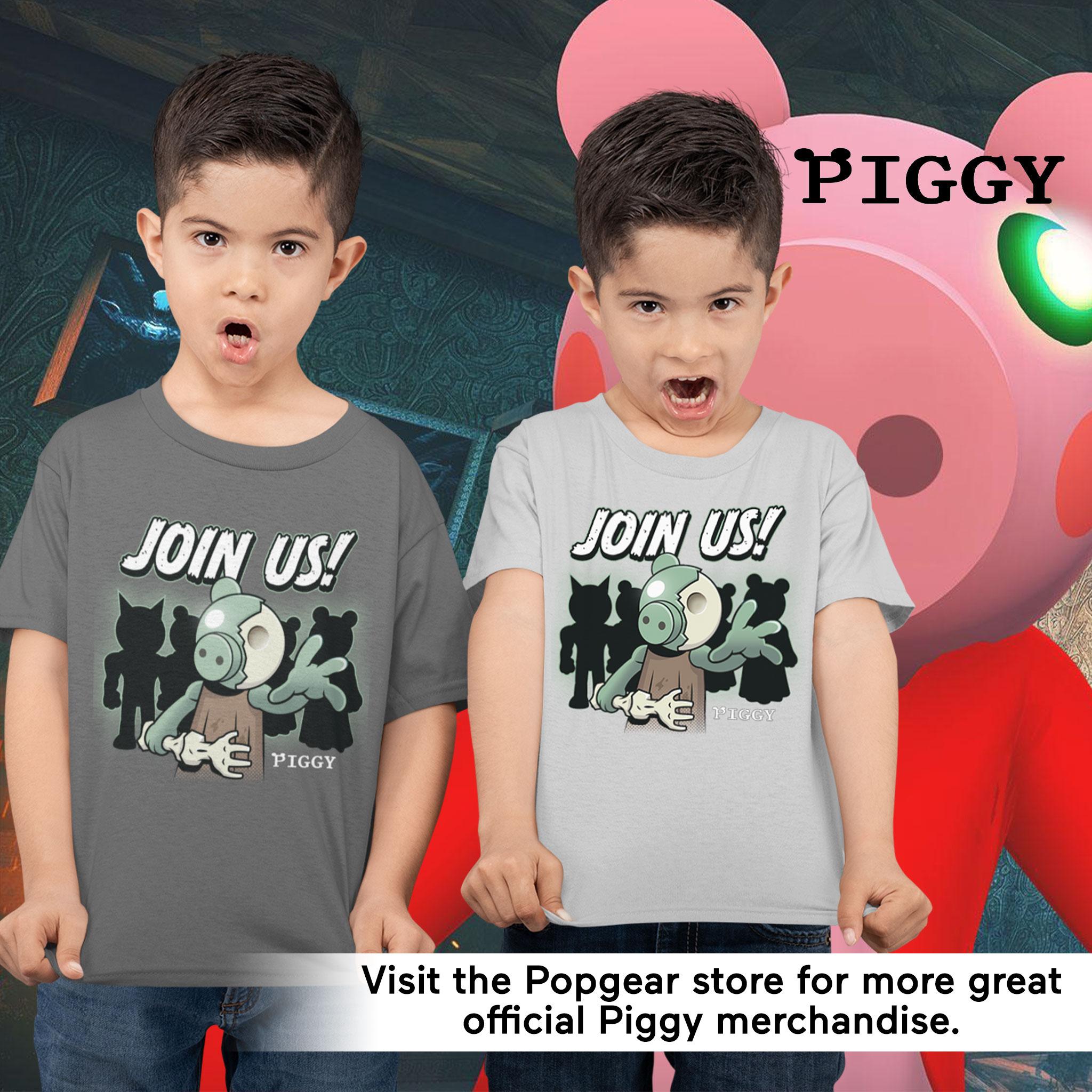 miniature 10 - Boys Piggy T Shirt Zombie Join Us Official Grey