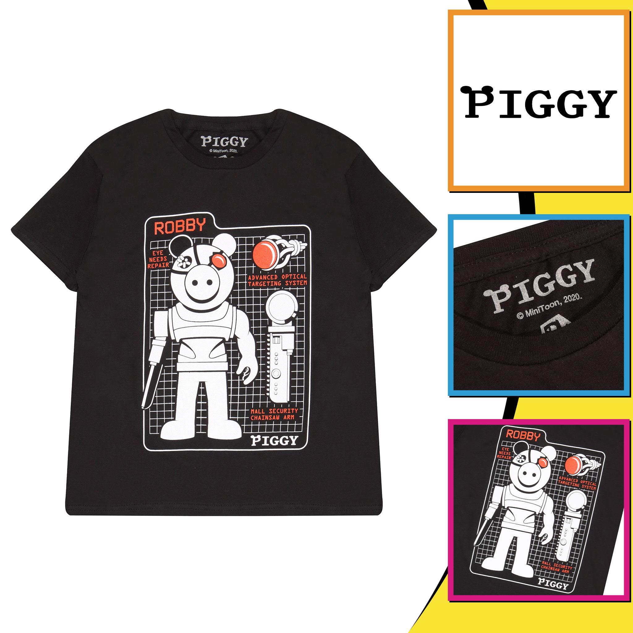 miniature 8 - Boys Piggy T Shirt Robby Tech Specs Official