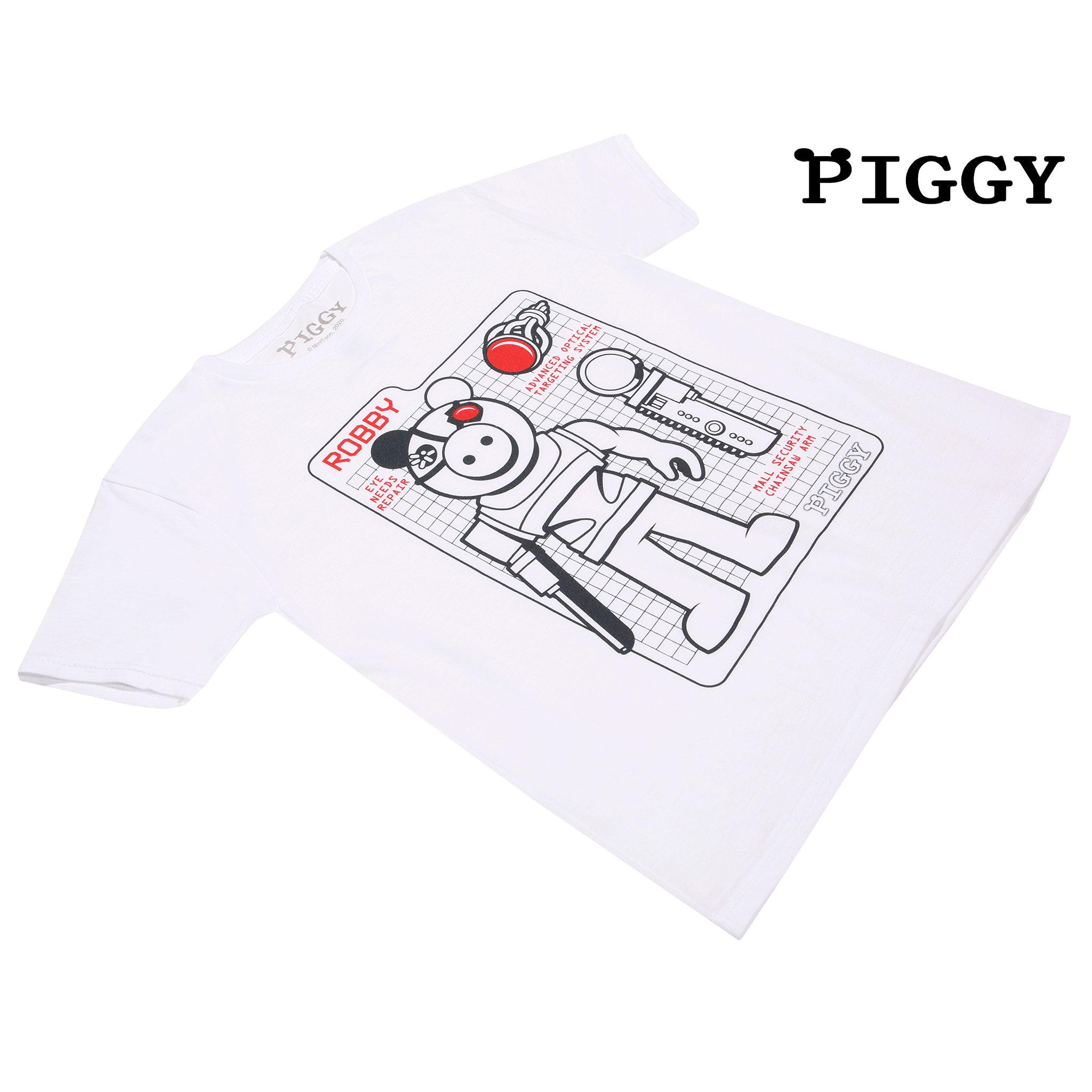 miniature 19 - Boys Piggy T Shirt Robby Tech Specs Official