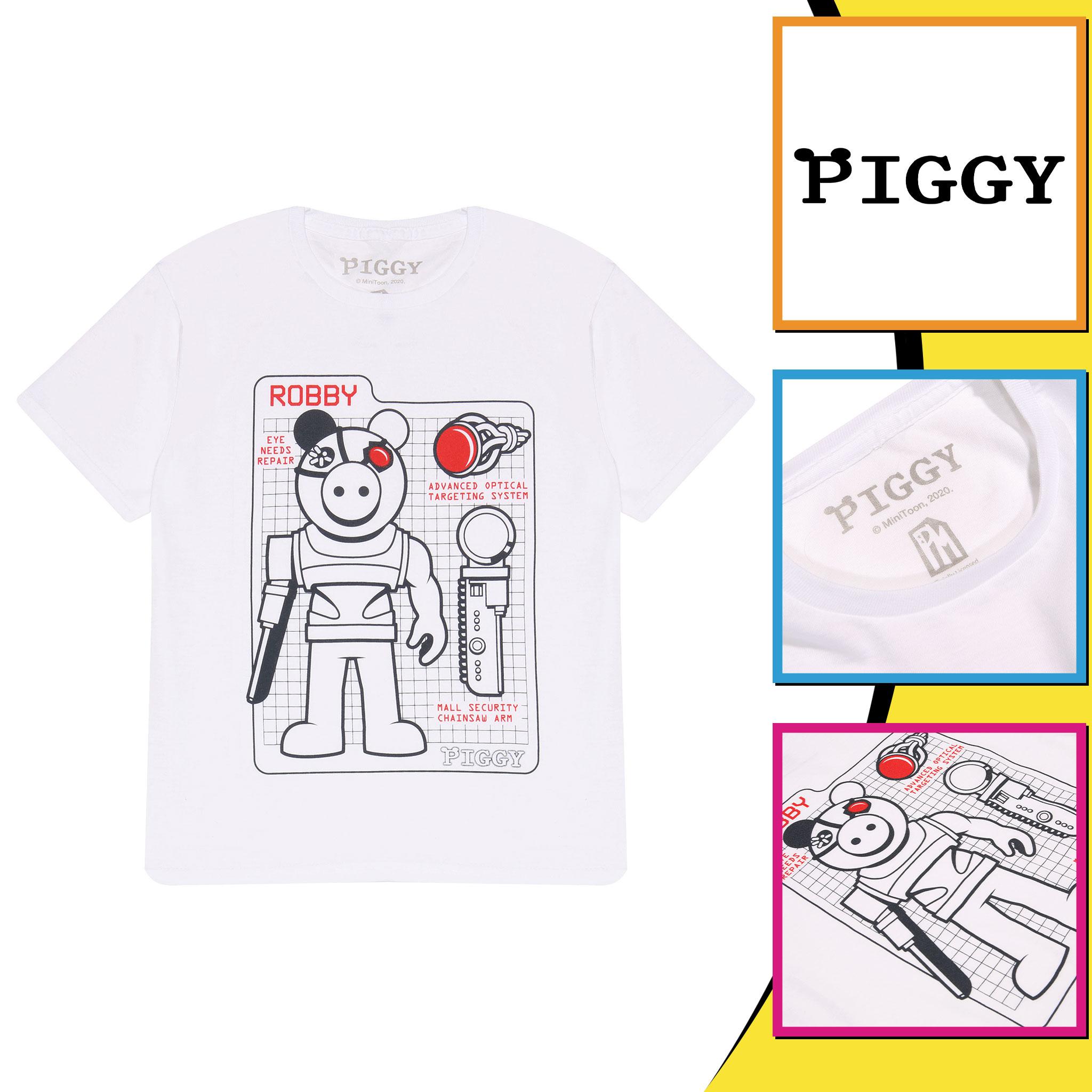 miniature 18 - Boys Piggy T Shirt Robby Tech Specs Official