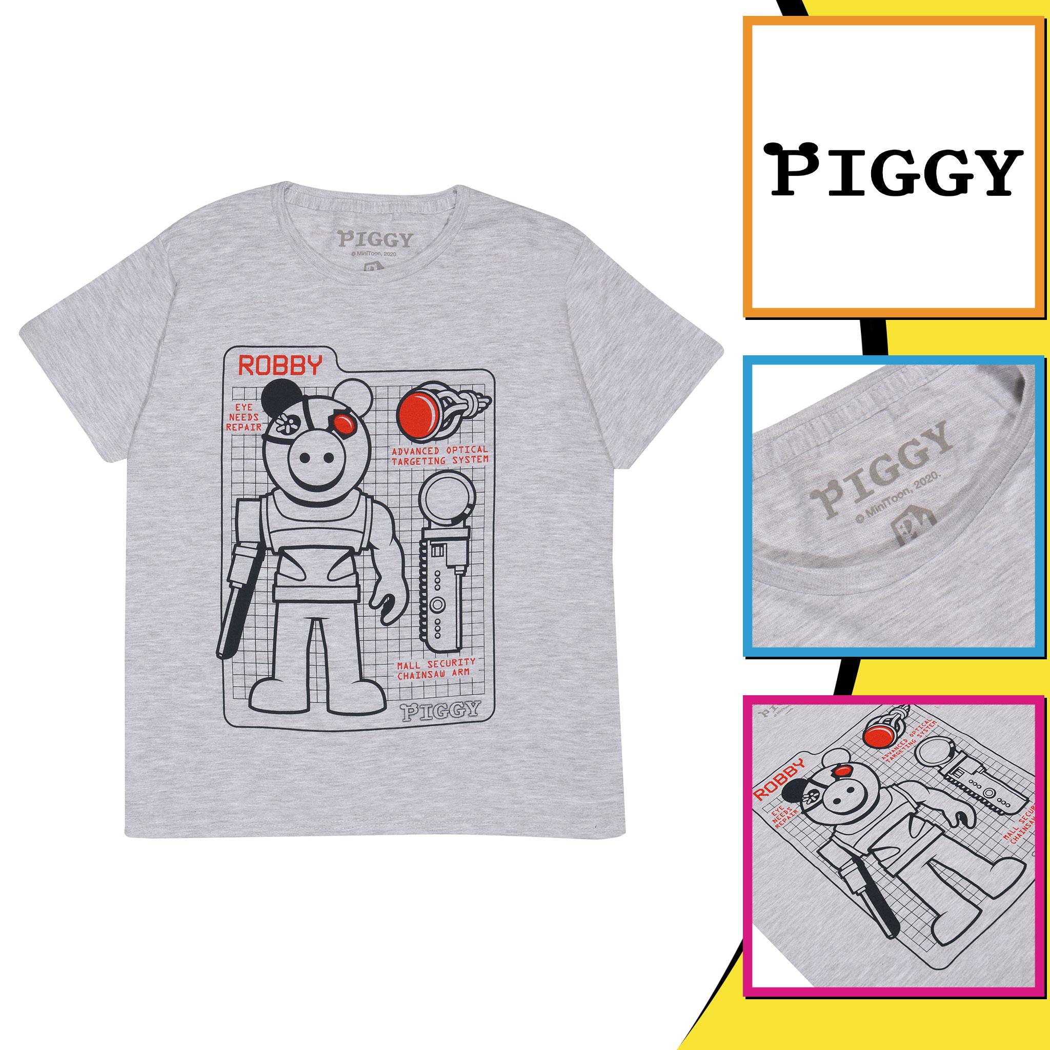 miniature 13 - Boys Piggy T Shirt Robby Tech Specs Official