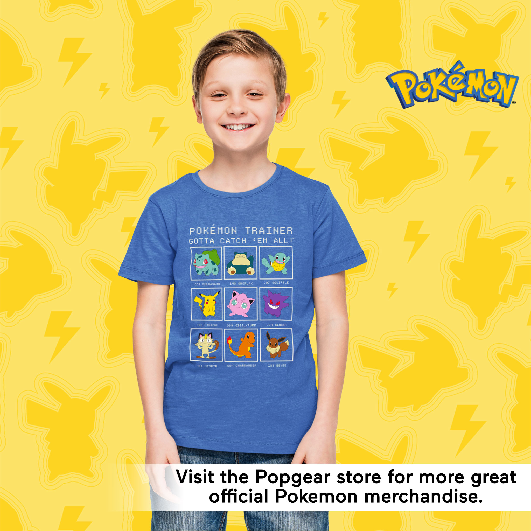 miniature 8 - Boys Pokemon T Shirt Trainer Official Blue