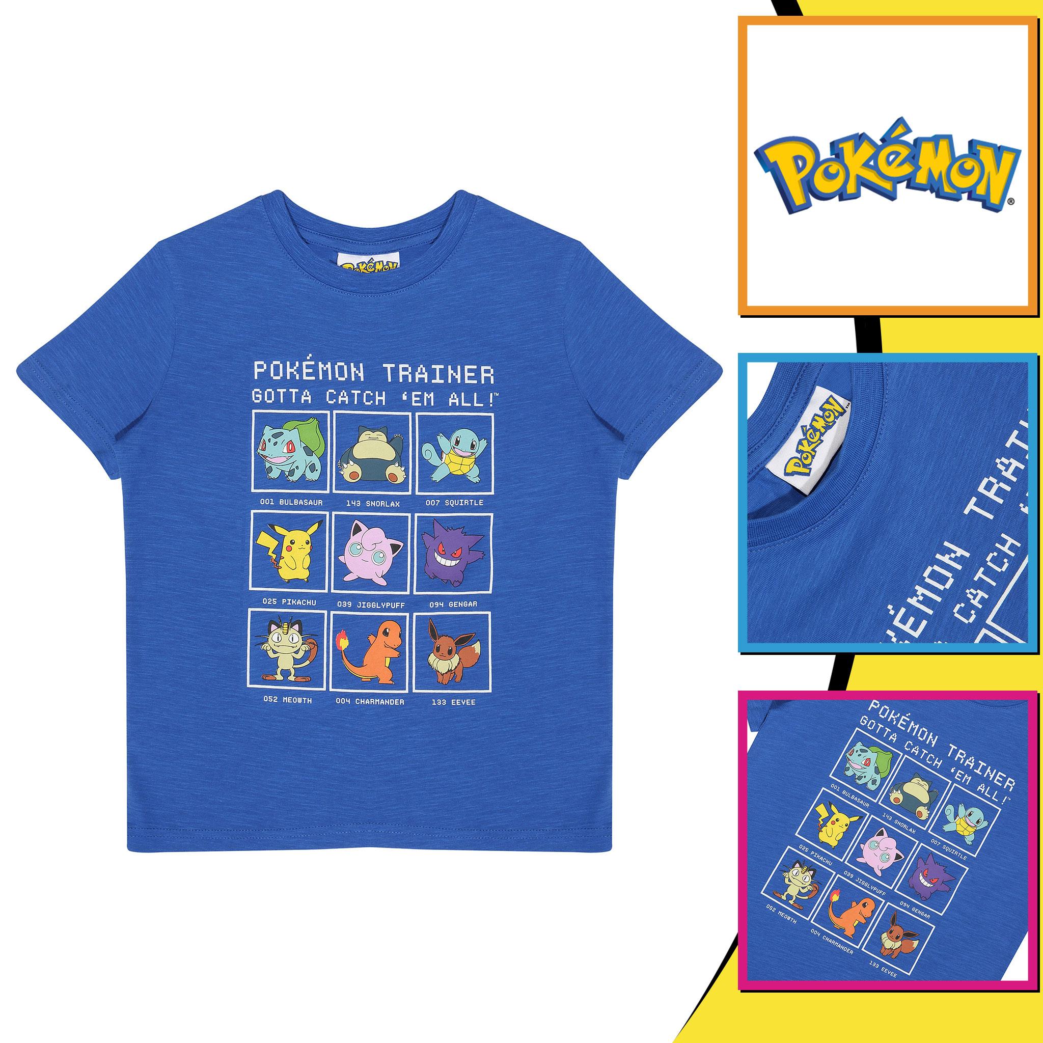 miniature 7 - Boys Pokemon T Shirt Trainer Official Blue